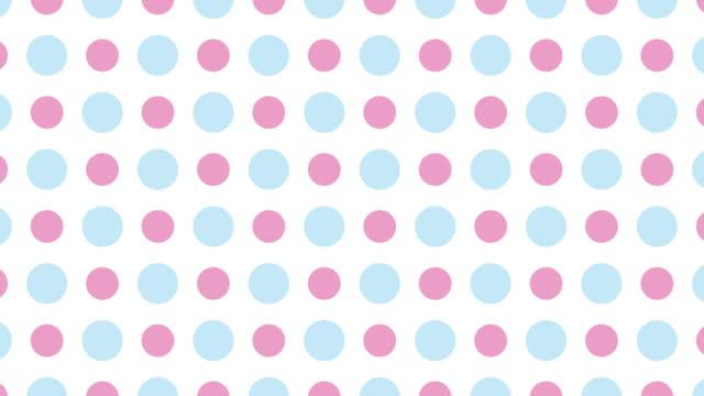 vídeos y material grabado en eventos de stock de animación de patrón de puntos - lunares