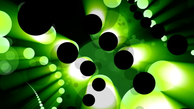 dots in green video