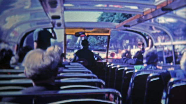 1969: Double decker tour bus view is a popular attraction to see the city.
