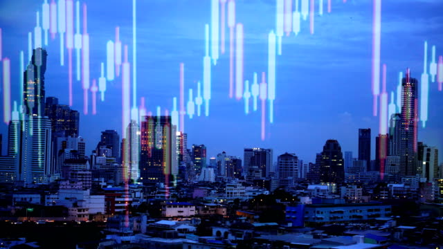 Double exposure of a and city stock market. Double exposure of a and city stock market. inflation stock videos & royalty-free footage