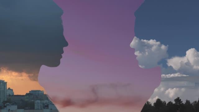 二重露出の肖像画 - デジタル合成点の映像素材/bロール