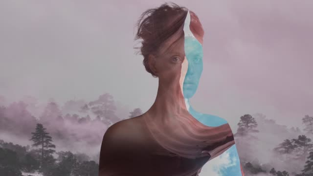 Double exposure portrait Double exposure portrait the human body stock videos & royalty-free footage