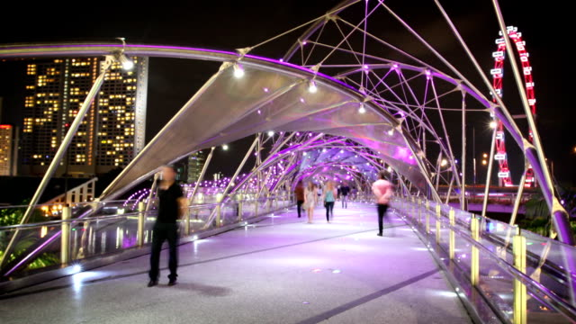Double Helix Bridge, Singapore video