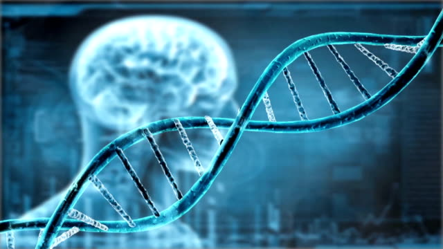 DNA double helix, medical background video