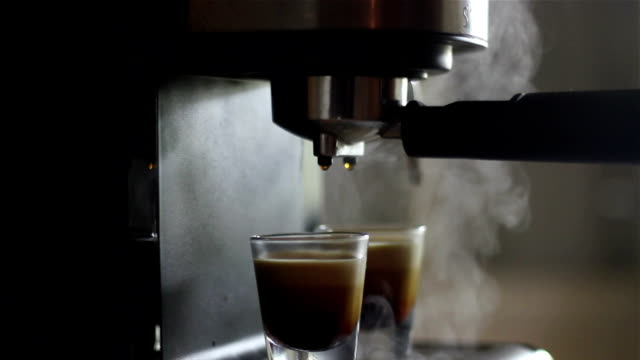 double shoot espresso and smoke. video