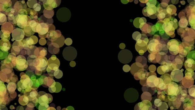 Double-sided colorful circles on black background - vídeo