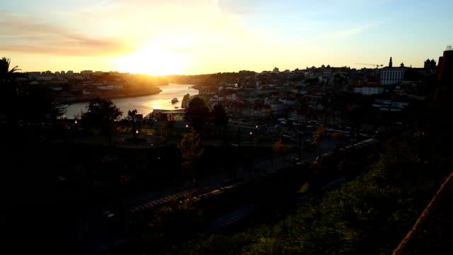 Douro River at sunset video