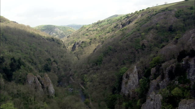 Dovedale  - Aerial View - England, United Kingdom video