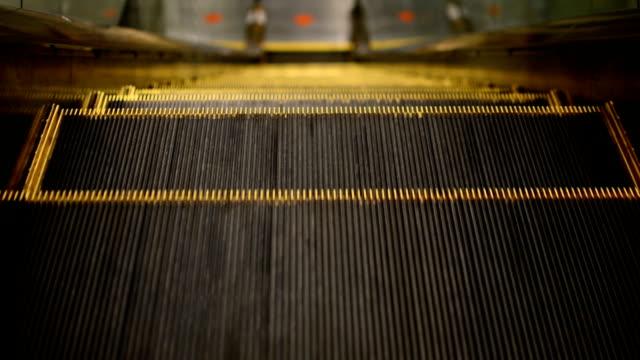 Down escalator. video