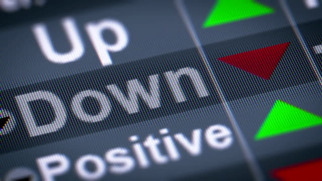 """down"" on the screen. - bankruptcy stock videos & royalty-free footage"