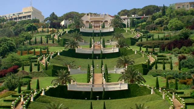 Down the hill of Bahaim Gardens Haifa. video