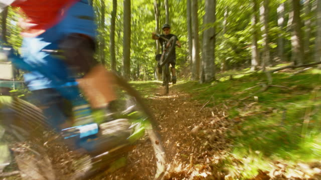 MS LA Downhill mountain bikers in action video