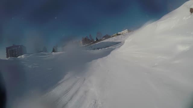 冬のビデオでダウンヒルチューブ ビデオ