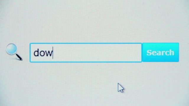 scarica video-query di ricerca del browser internet pagina web, - spranga video stock e b–roll