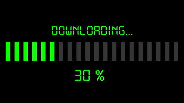 downloading progress bar - digital green video