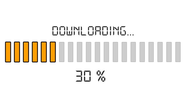 downloading progress bar - digital orange video
