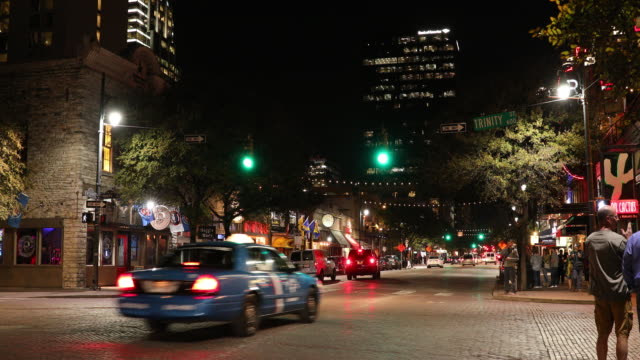 Downtown Austin Texas at night video