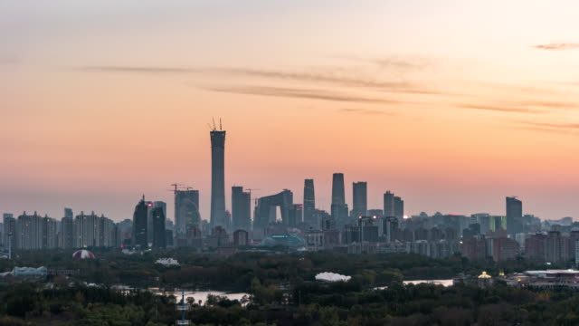 T/L HA Downtown Beijing, Day to Night Transition / Beijing, China video