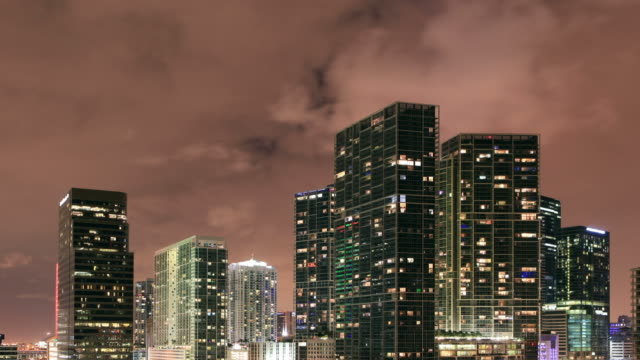 Downtown Brickell Miami Time Lapse video