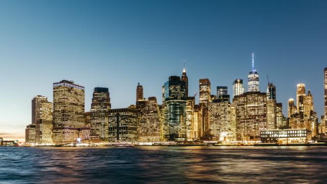 T/L PAN Downtown business Manhattan / New York, USA video