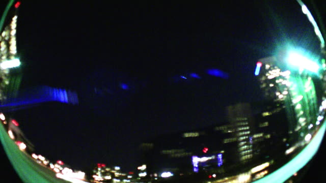 Downtown City Lights at Night video