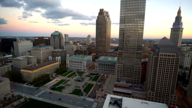 Downtown Cleveland skyline in Ohio, United States