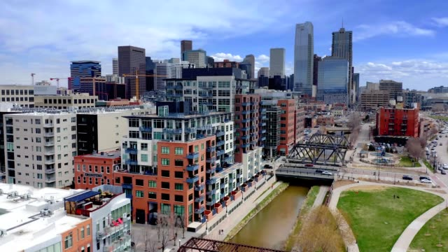 downtown denver colorado by aerial drone downtown denver colorado by aerial drone east stock videos & royalty-free footage