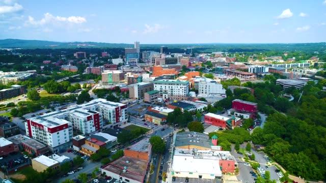 Downtown Greenville, South Carolina, USA Aerial Downtown Greenville, South Carolina, USA Skyline Aerial south carolina stock videos & royalty-free footage
