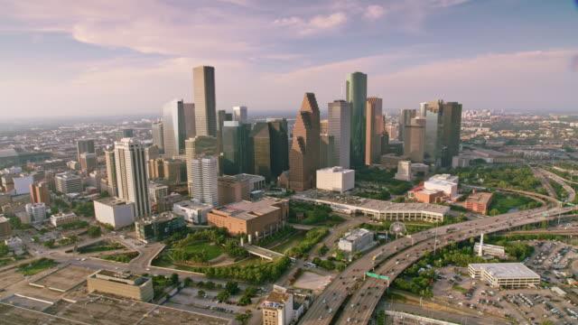 AERIAL Downtown Houston, TX video