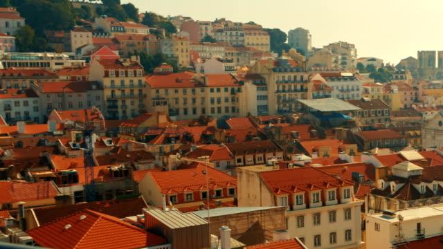 downtown, lisbon, portugal - lisbona video stock e b–roll