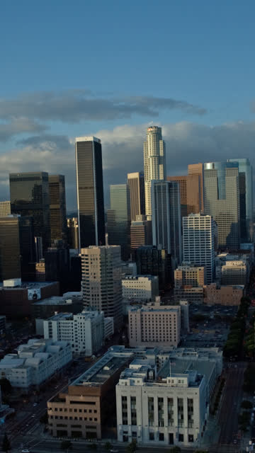 downtown los angeles day to night time lapse - vertical format video stock videos and b-roll footage