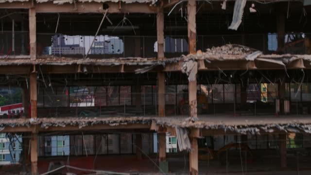 bina downtown los angeles yıkıldı - coğrafi konum stok videoları ve detay görüntü çekimi