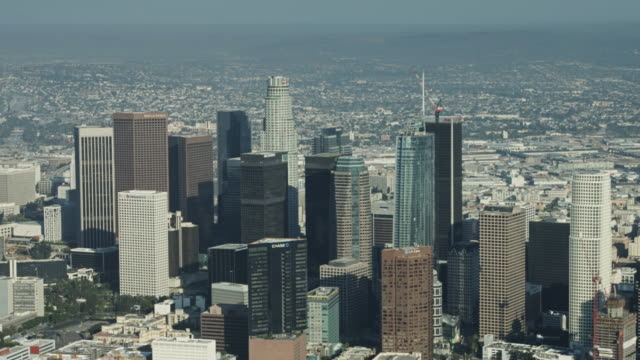 Downtown Los Angeles From Above video