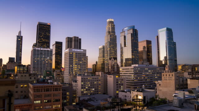 Downtown Los Angeles Skyline video
