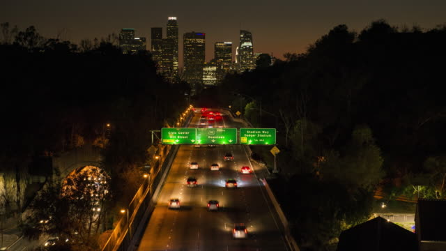 Downtown Los Angeles Time Lapse Dusk to Dark video