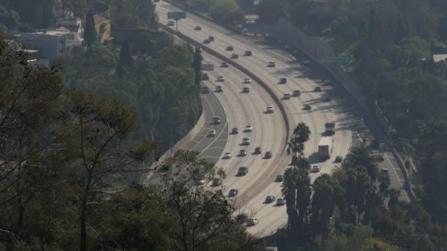 Downtown Los Angeles traffic 4k video