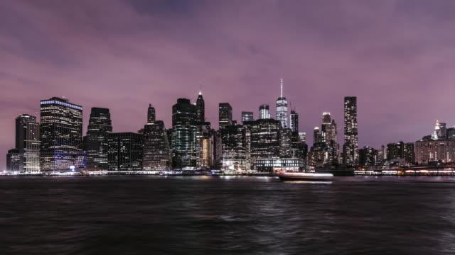 T/L Downtown Manhattan at Night / New York video