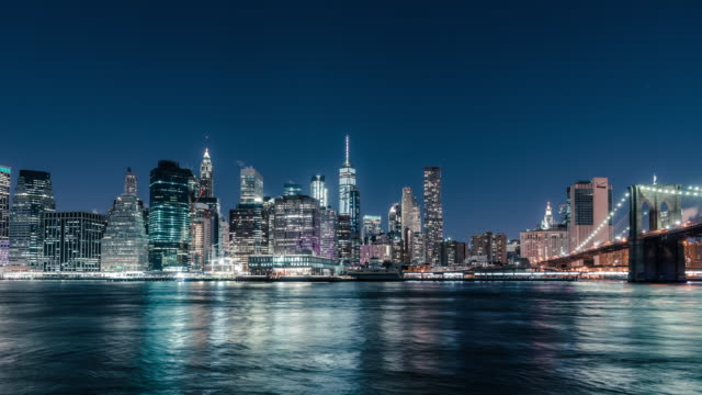 t/l downtown manhattan / new york, usa - city skylines stock videos & royalty-free footage