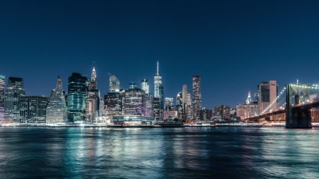 t/l downtown manhattan / new york, usa - stadtsilhouette stock-videos und b-roll-filmmaterial