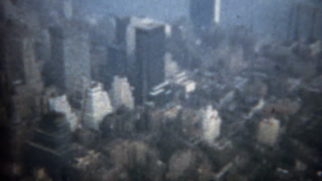 1961: downtown manhattan view from empire state building. - continente americano video stock e b–roll