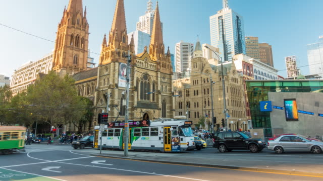 downtown melbourne in australia - melbourne stock videos & royalty-free footage