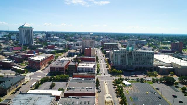 downtown montgomery alabama skyline drone aerial - alabama filmów i materiałów b-roll
