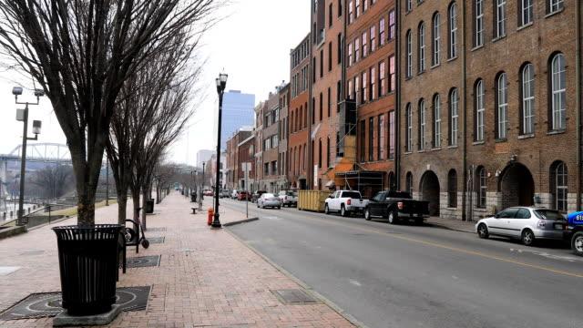 Downtown Nashville, Tennessee door de rivier de Cumberland video