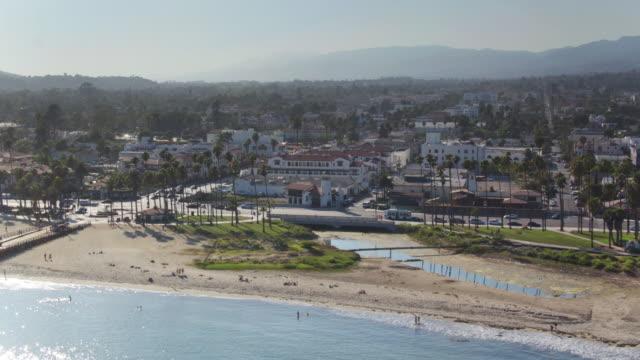 Downtown Santa Barbara from the Sea - Drone Shot video