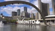 istock Downtown skyline at Nathan Phillips Square in Toronto 1179111956