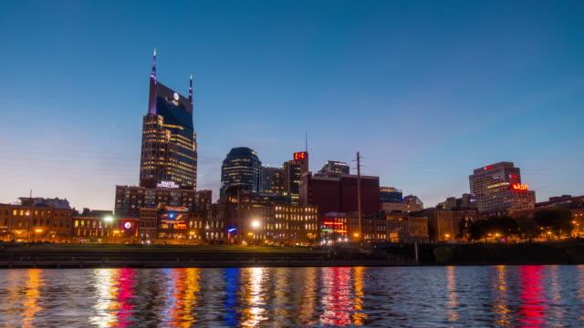 downtown skyline Nashville at twilight video