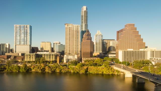 austin, texas abd şehir manzarası - sütun başlığı stok videoları ve detay görüntü çekimi