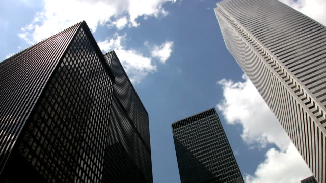 Downtown skyscrapers. Timelapse. video