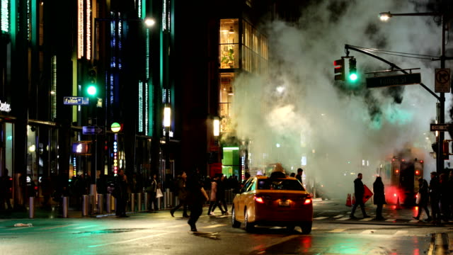 downtown street steam vent - new york stock videos & royalty-free footage