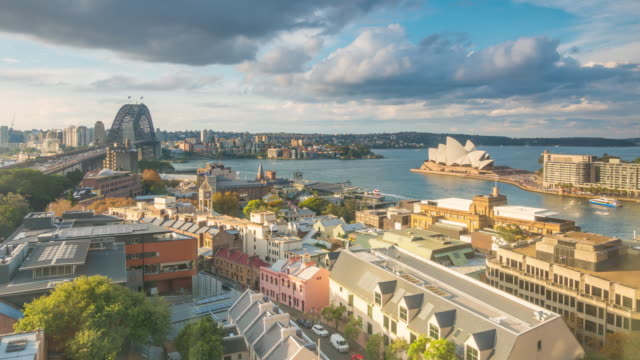 Downtown Sydney skyline in Australia from top view